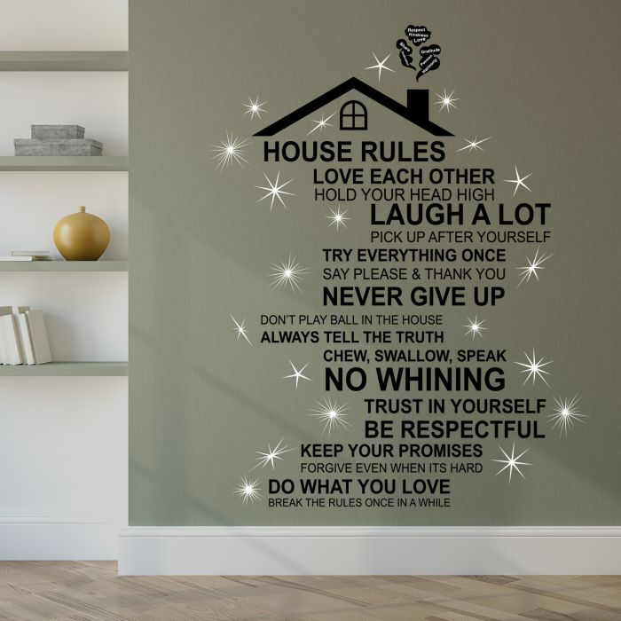 Image for Walplus English House Rule Wall Sticker Art with Swarovski Crystals
