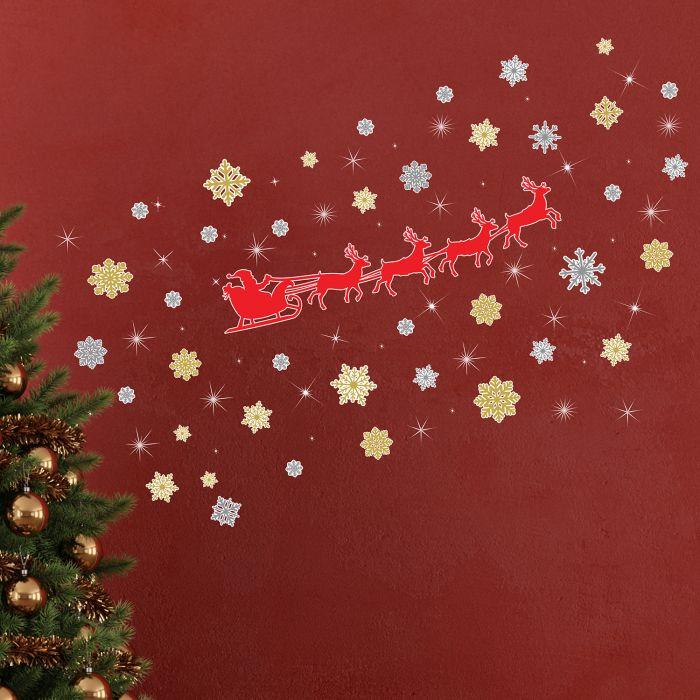 Image for Walplus Christmas Reindeer Snowflakes with Swarovski Crystaks