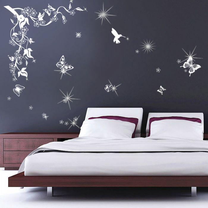 Image for Butterflies Vine Swarovski Wall Sticker