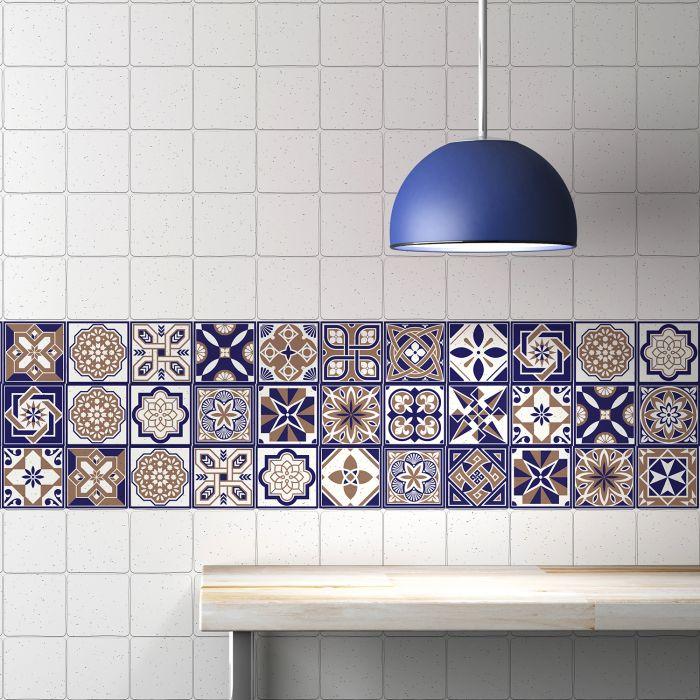 Image for Royal Tiles Wall Stickers - 10 cm x 10 cm - 24 pcs