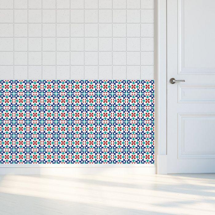 Image for Marrakech Tiles Wall Stickers - 10 cm x 10 cm - 24 pcs