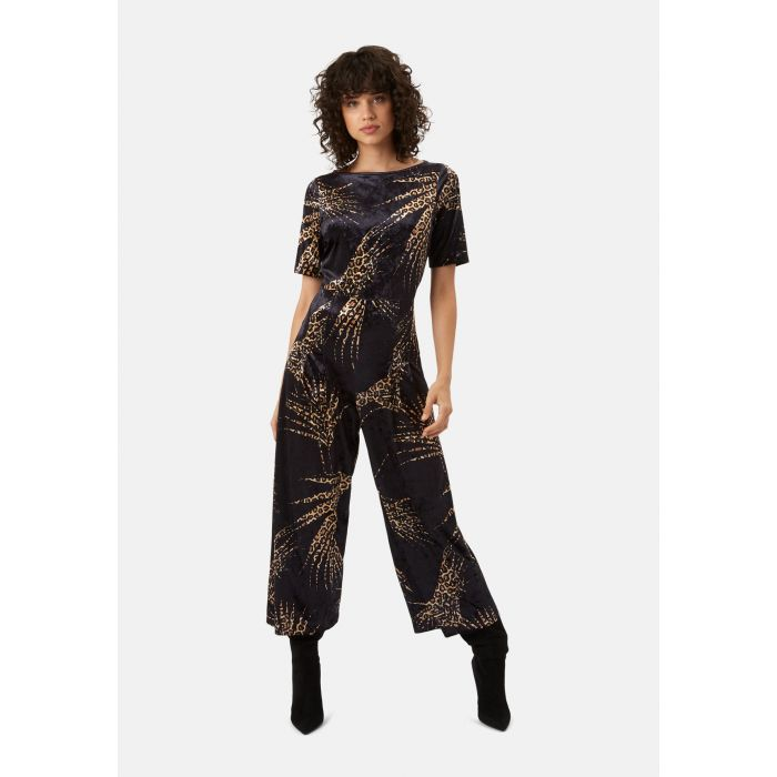 Image for Bianca black velvet jumpsuit