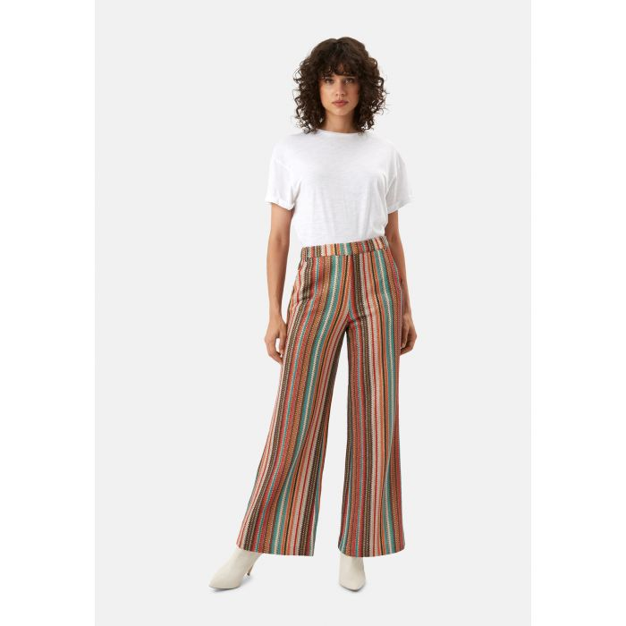 Image for WYF Multicoloured Flared Trousers
