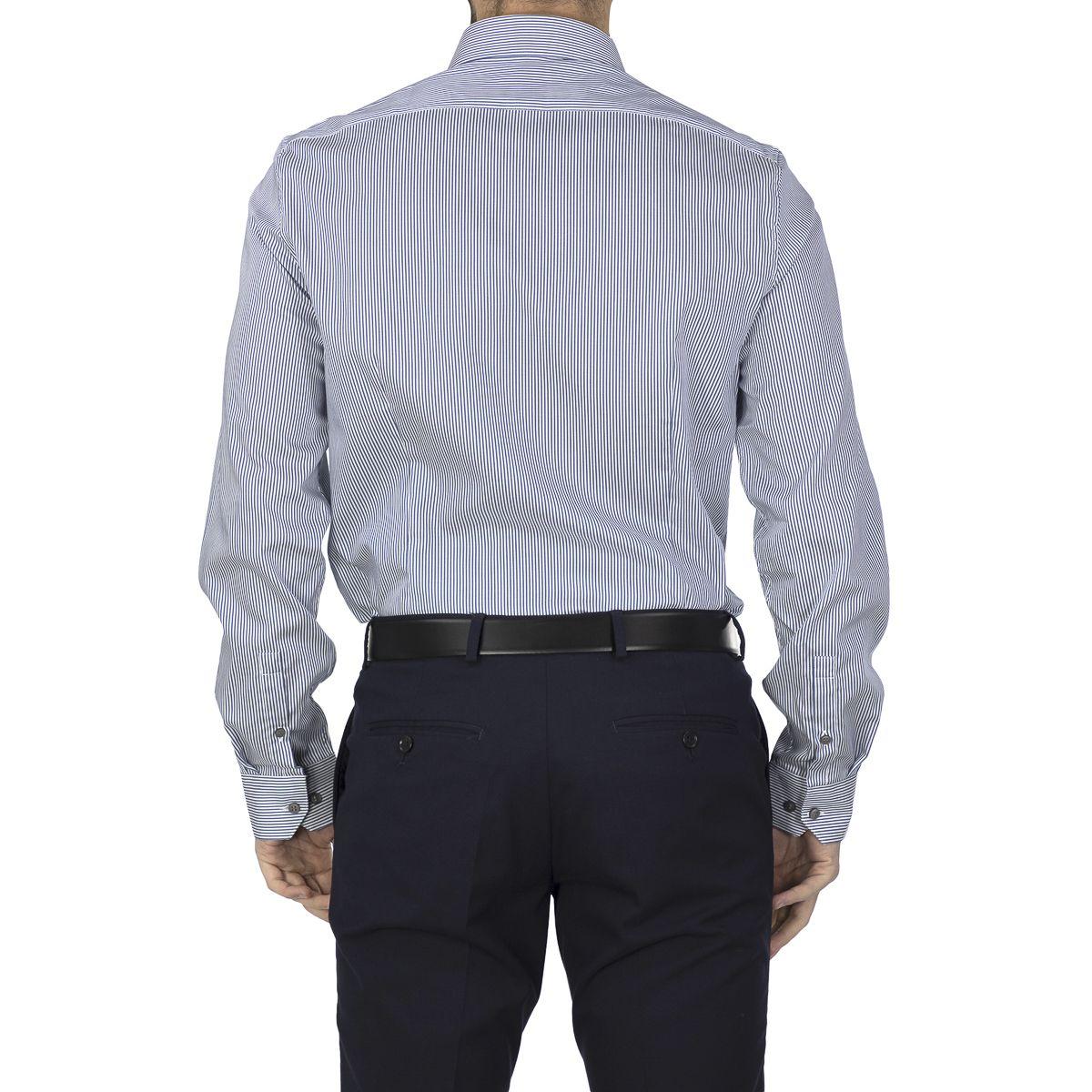 Calvin Klein Men Shirt Stripe Easy Iron Fit