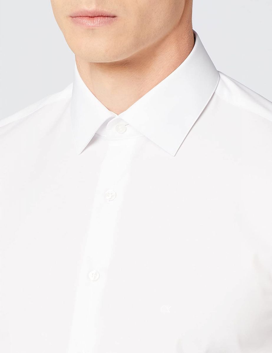 Calvin Klein Men Shirt Poplin Easy Iron Fit