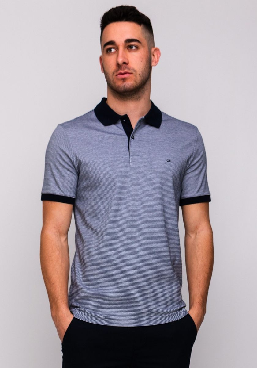 Calvin Klein Men Polo Shirt with Stripes