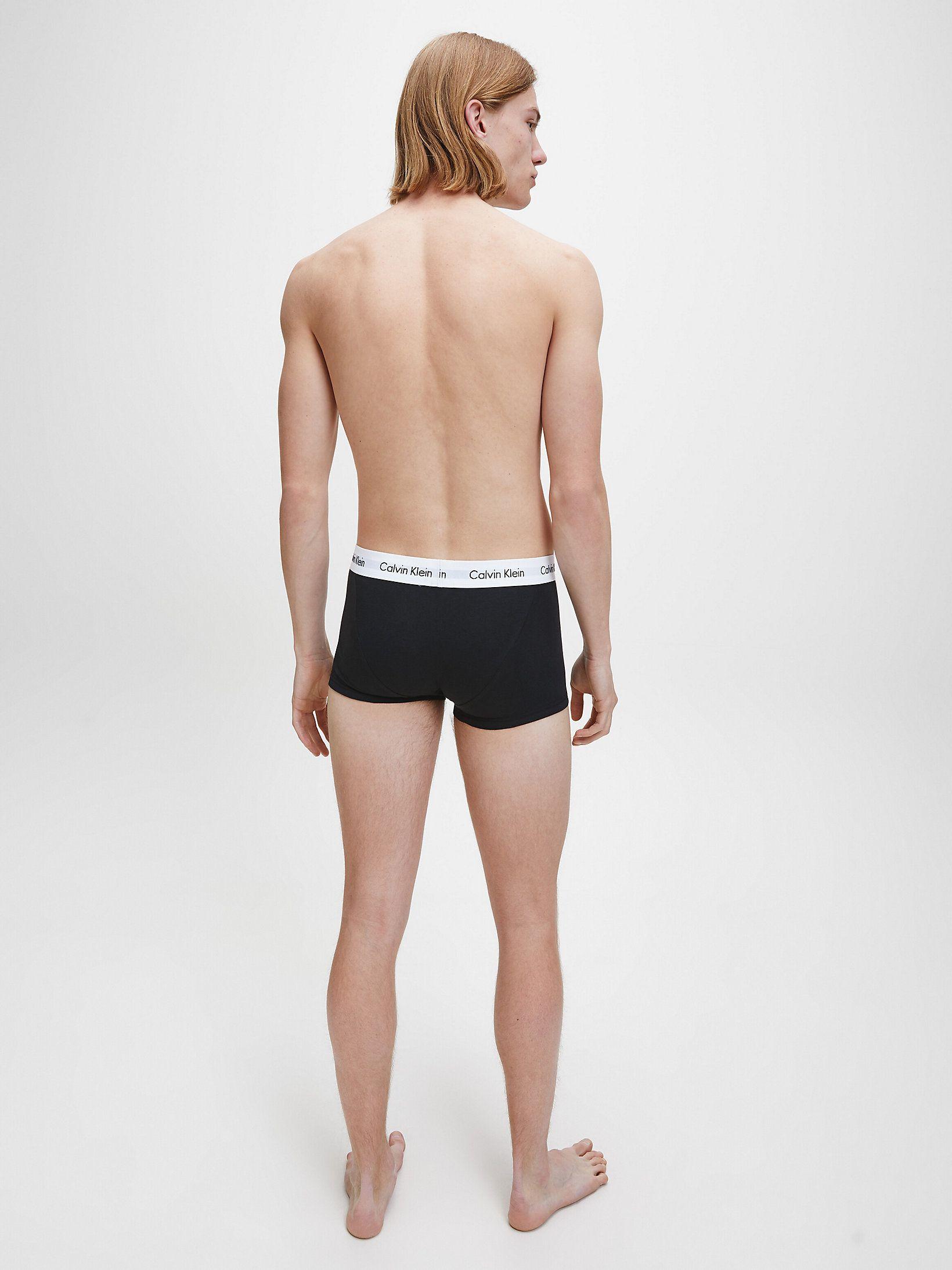 Calvin Klein 3 Pack Trunks - Low Rise - Cotton Stretch, Black