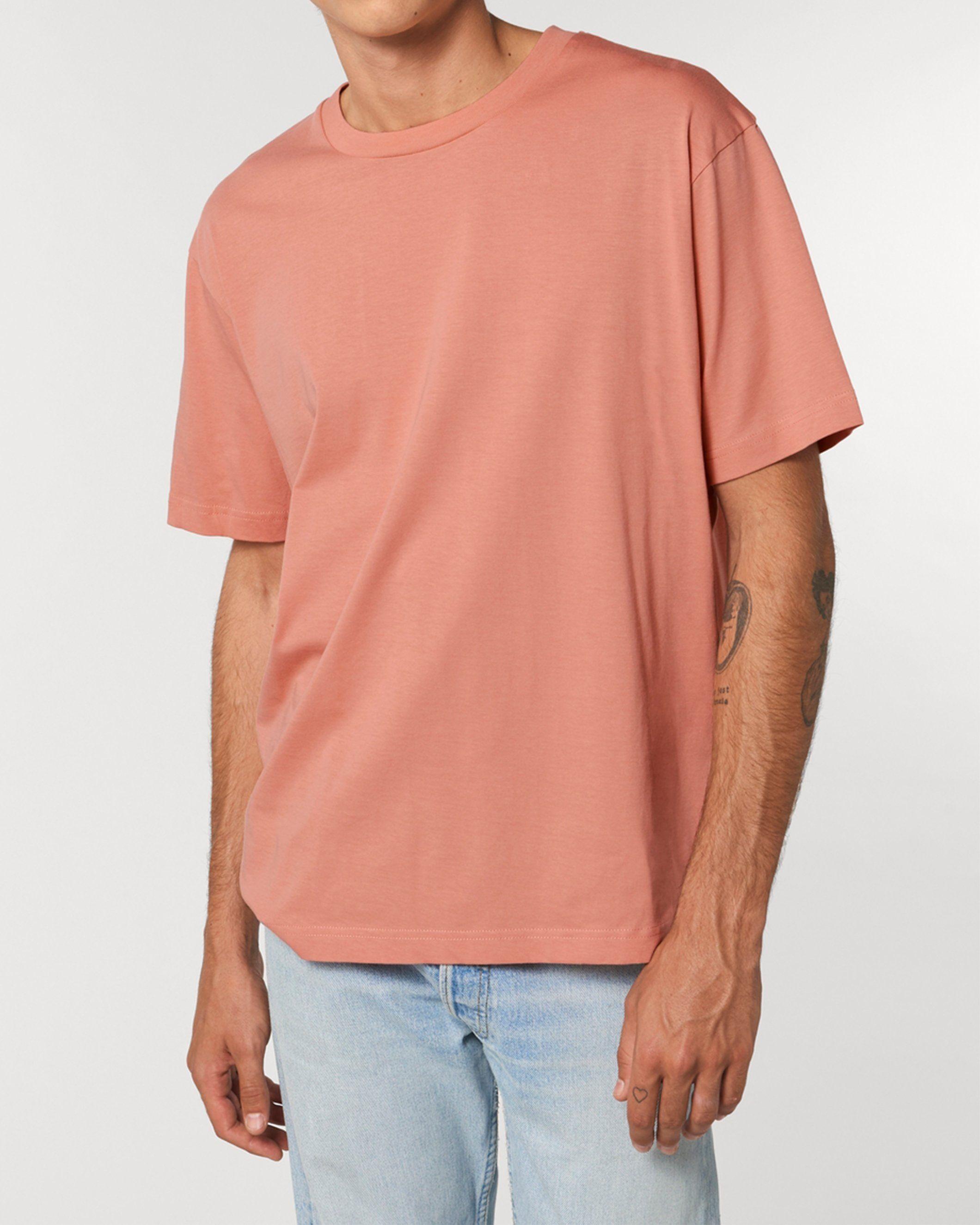 Antaratma Unisex Relaxed T-Shirt in Peach
