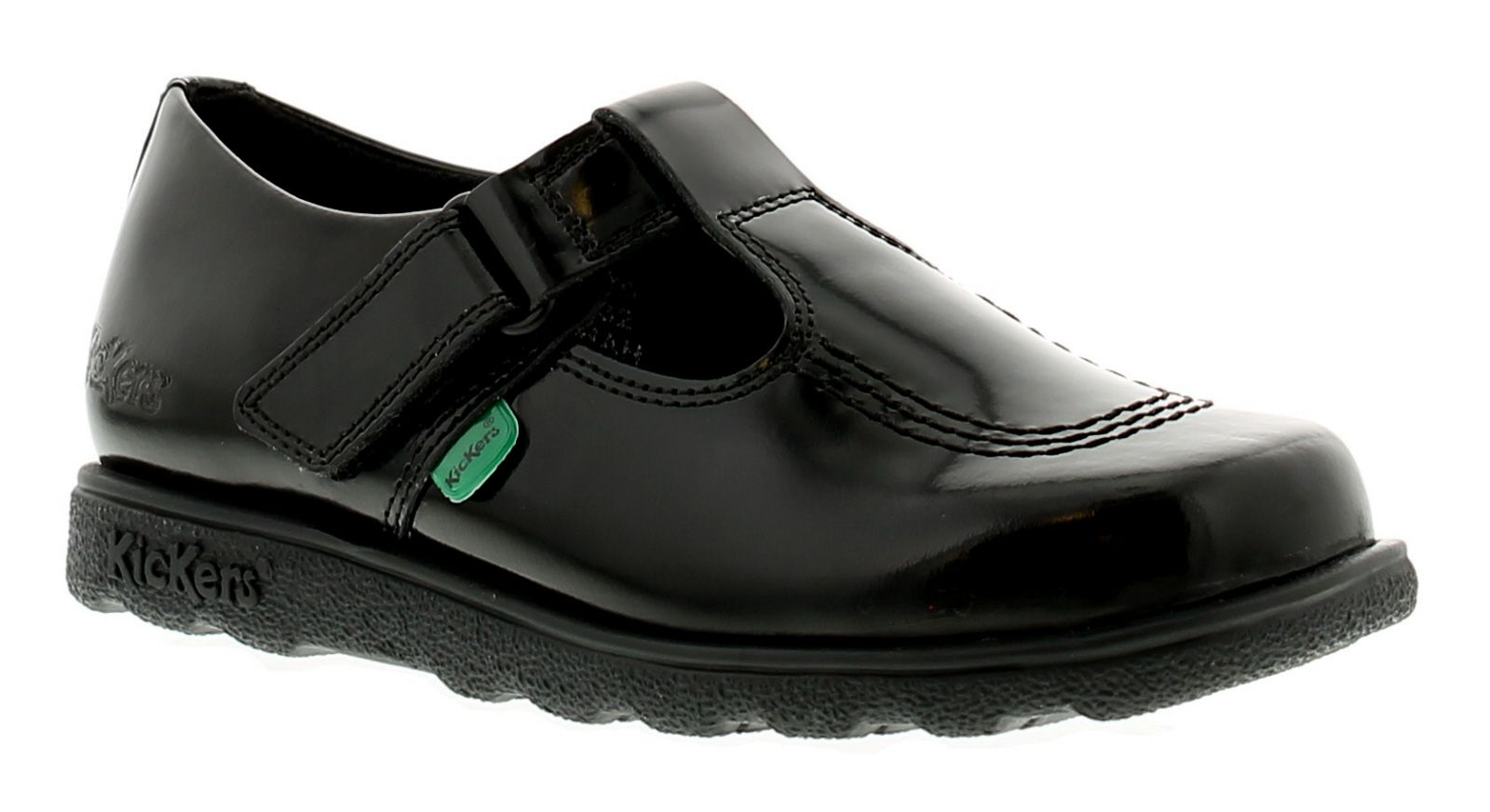 Kickers Fragma T Bar J Girls Kids School Shoes Black