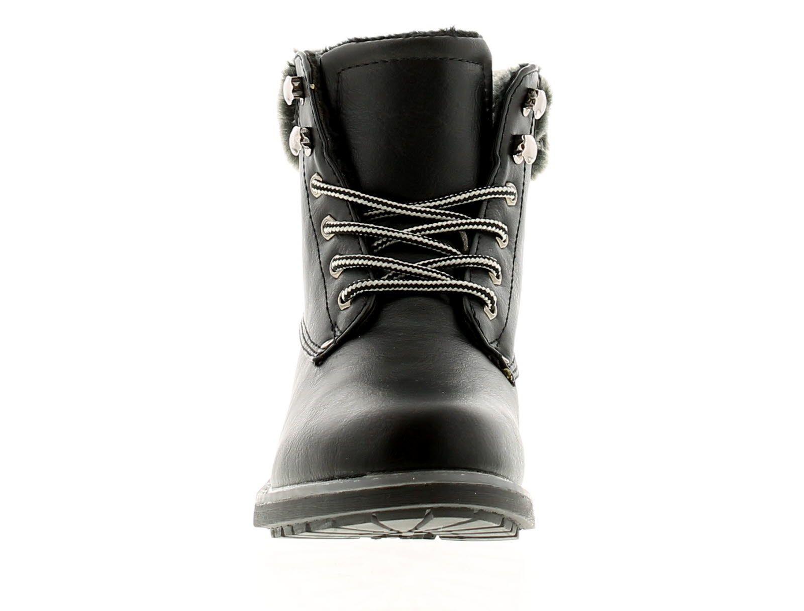 Apache Furlong Womens Ladies Ankle Boots Black