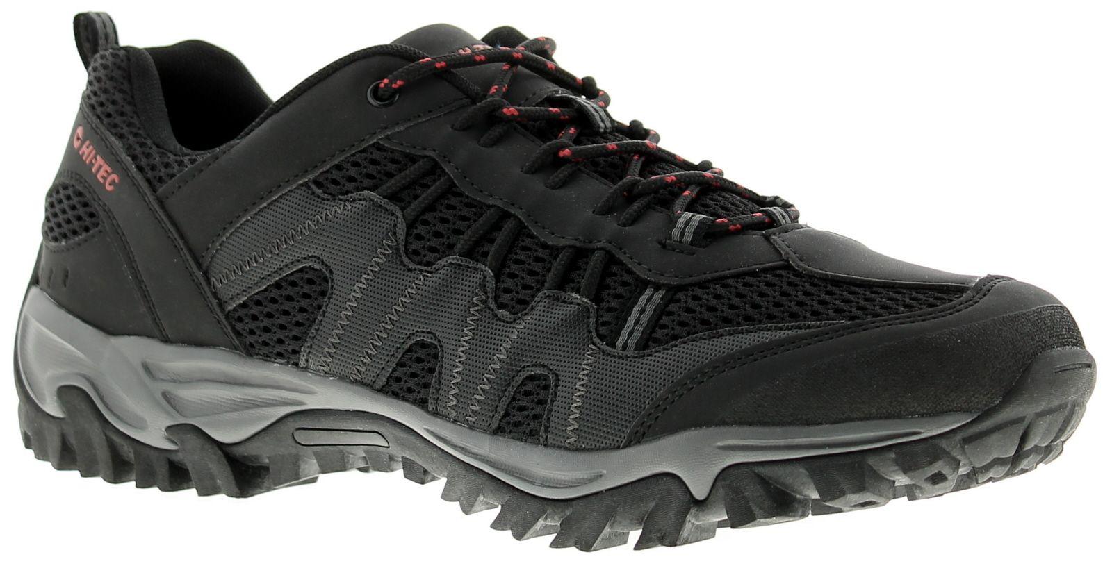 Mens Hi-Tec Jaguar Walking Shoes Synthetic And Mesh Upper Compression Moulded Eva Midsole Carbon Rub