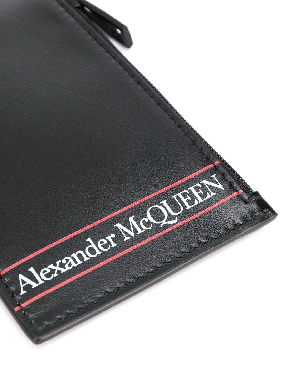ALEXANDER MCQUEEN MEN'S 6021511SJ3B1092 BLACK LEATHER WALLET