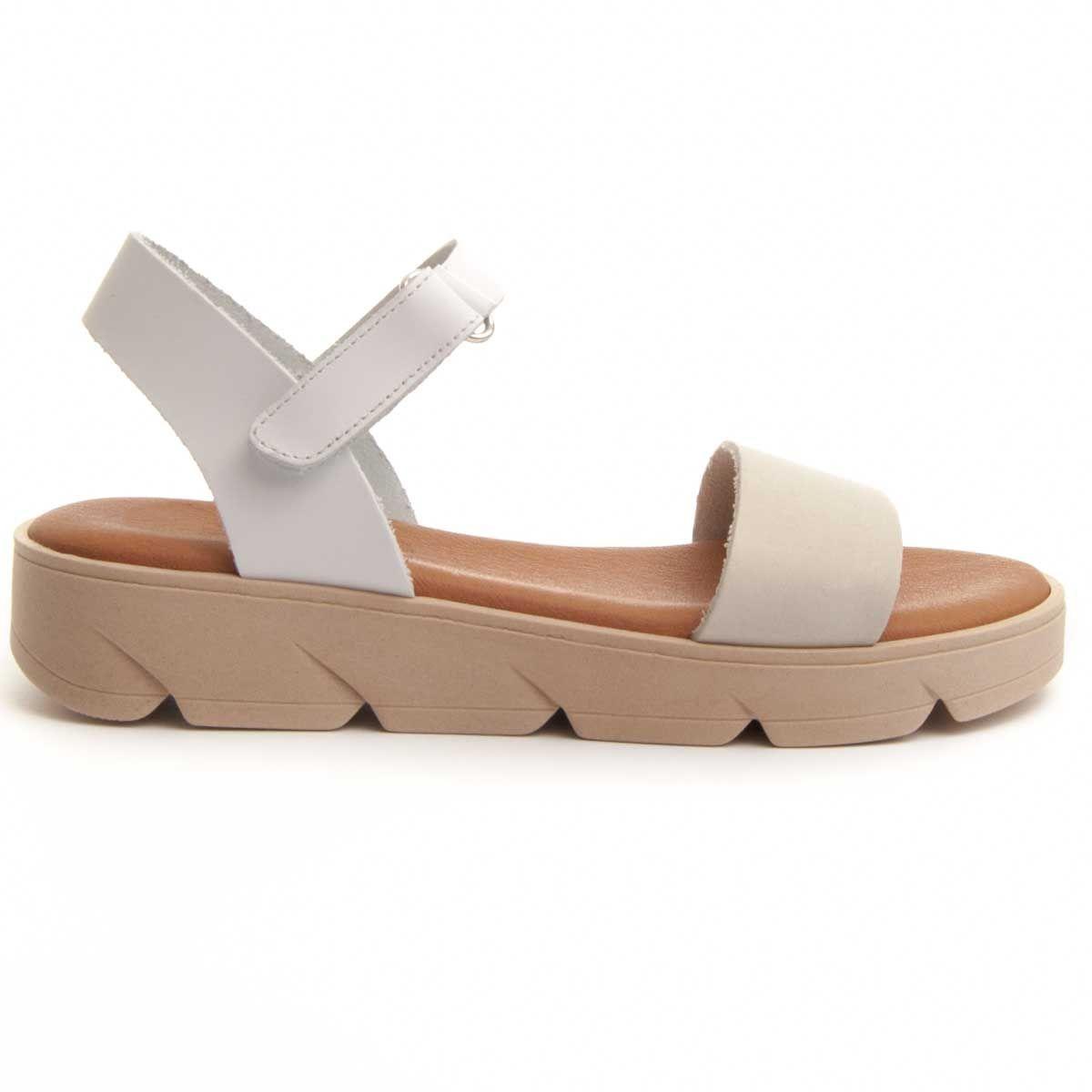 Purapiel Strappy Sandal in White
