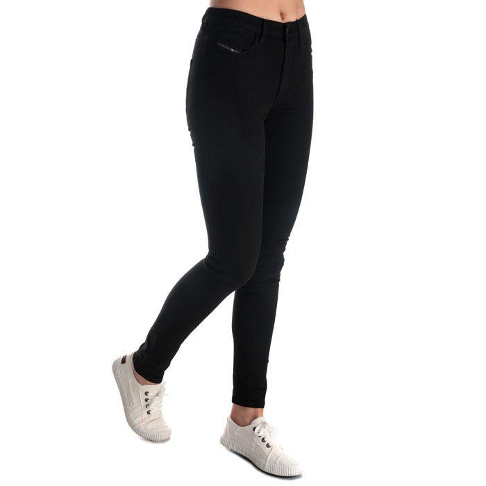 Women's Diesel Skinzee High Waist Skinny Jeans in Black