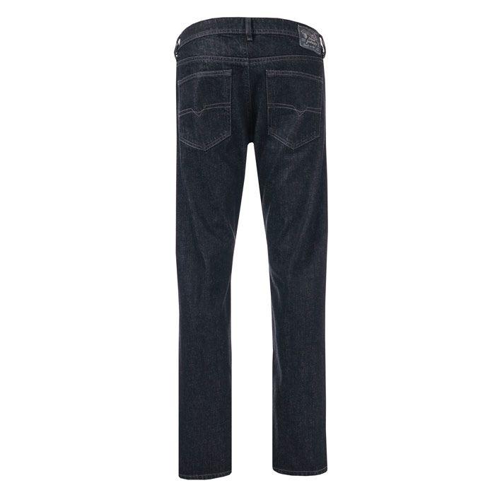 Men's Diesel Buster Slim Tapered Jeans in Black