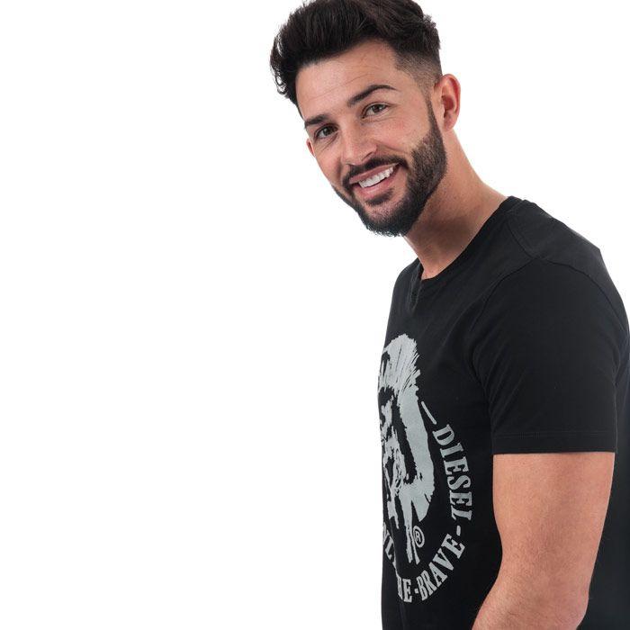 Men's Diesel T-Diego-FO T-Shirt in Black