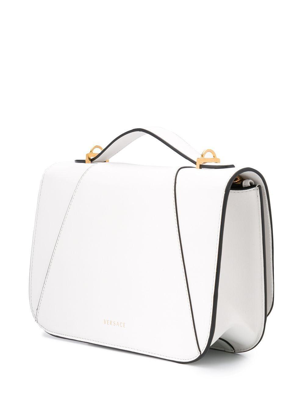 VERSACE WOMEN'S DBFG985D5VITK0AOT WHITE LEATHER SHOULDER BAG