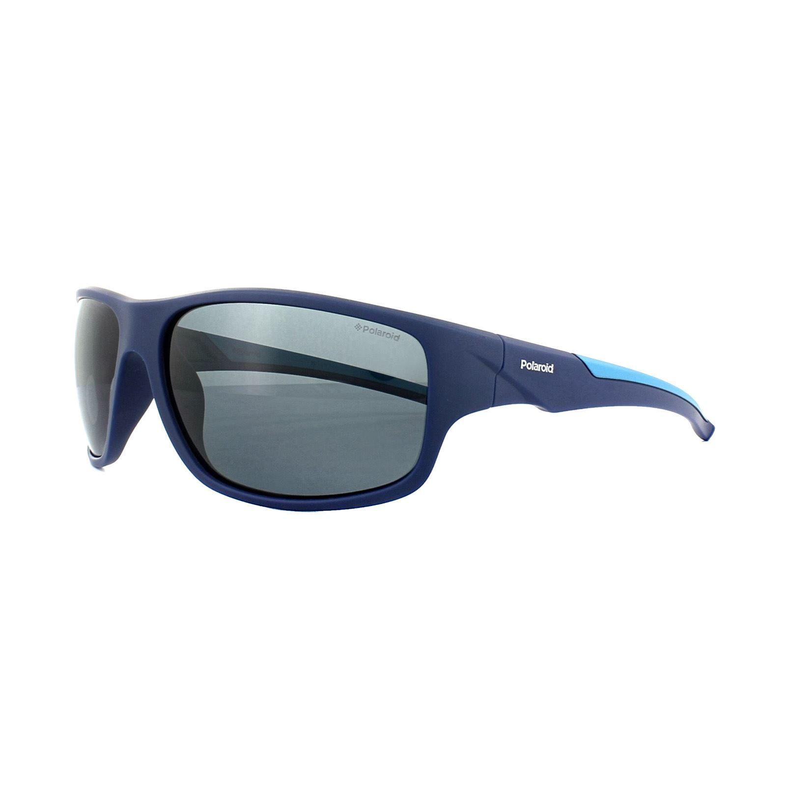 Polaroid Sport Sunglasses 7010/S ZX9 C3 Blue Azure Grey Polarized