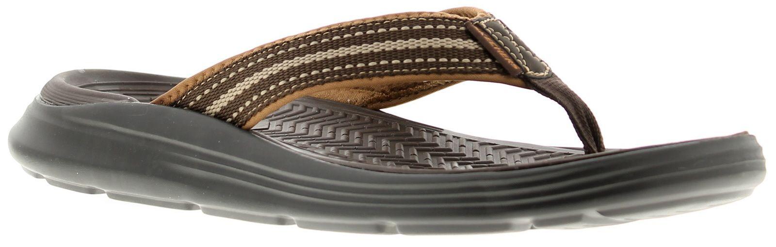 Skechers Sargo Mens Beach Sandals Chocolate Memory Foam