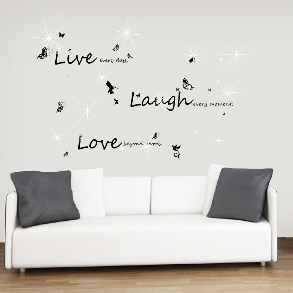 Swarovski Live Laugh Love Wall Sticker Set