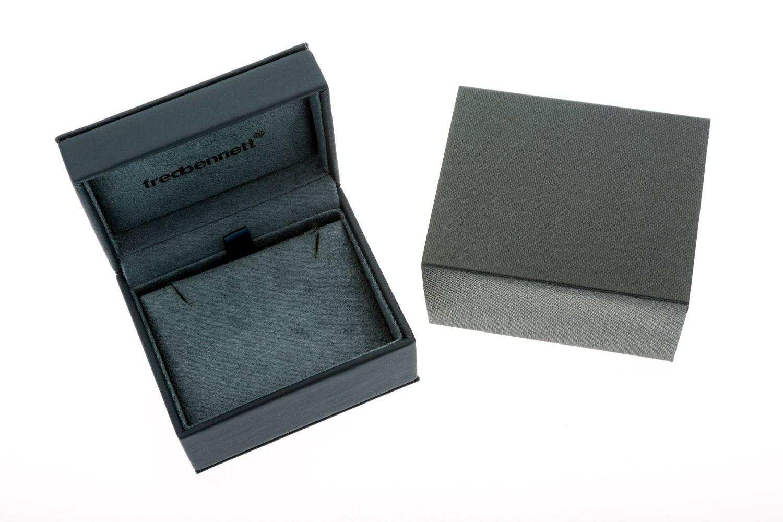 fredbennett fb Mens 925 Sterling Silver Smoky Brown Quartz Polished Square Cufflinks