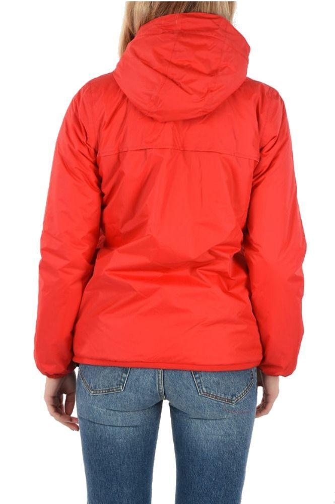 K-WAY WOMEN'S K005DF0K08 RED POLYAMIDE OUTERWEAR JACKET