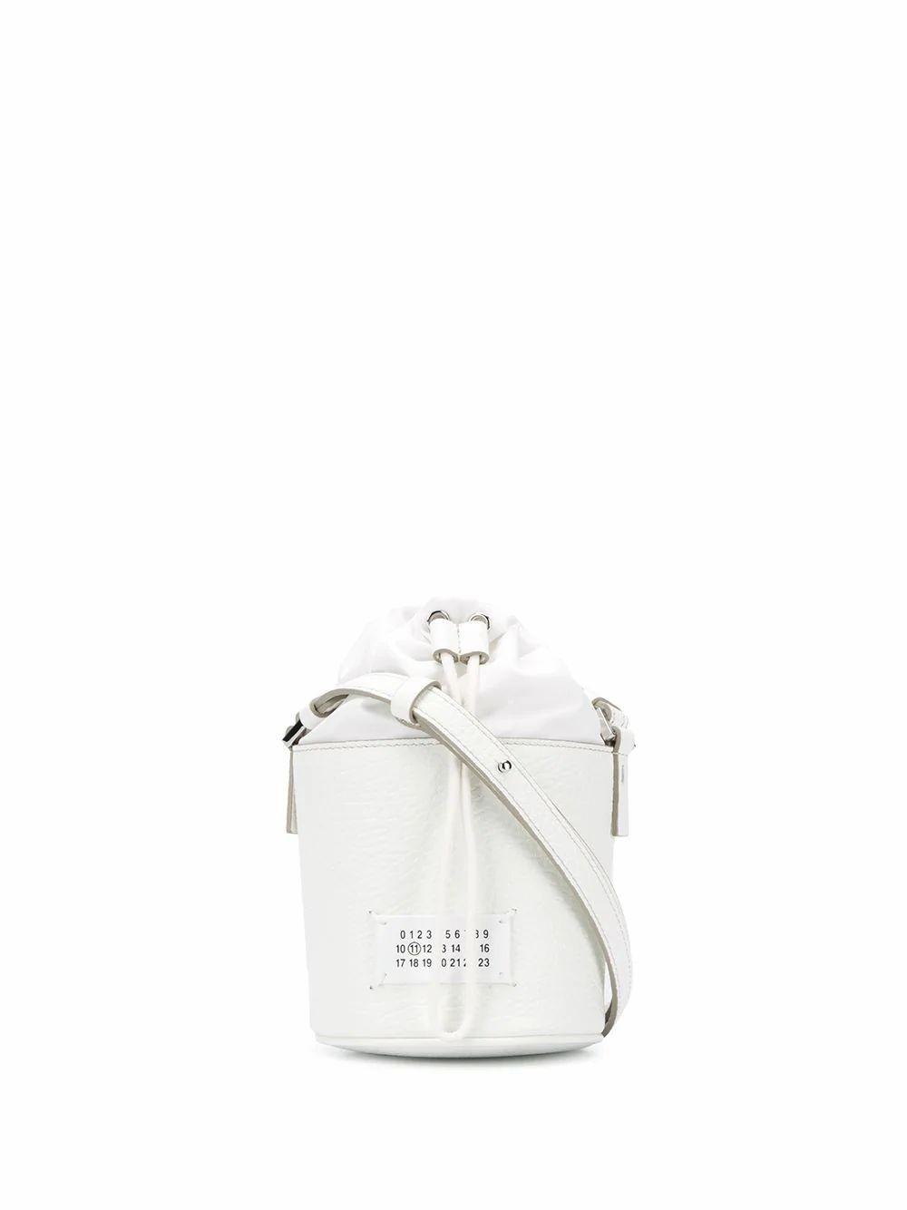 MAISON MARGIELA WOMEN'S S56WG0164P0396H7736 WHITE LEATHER SHOULDER BAG