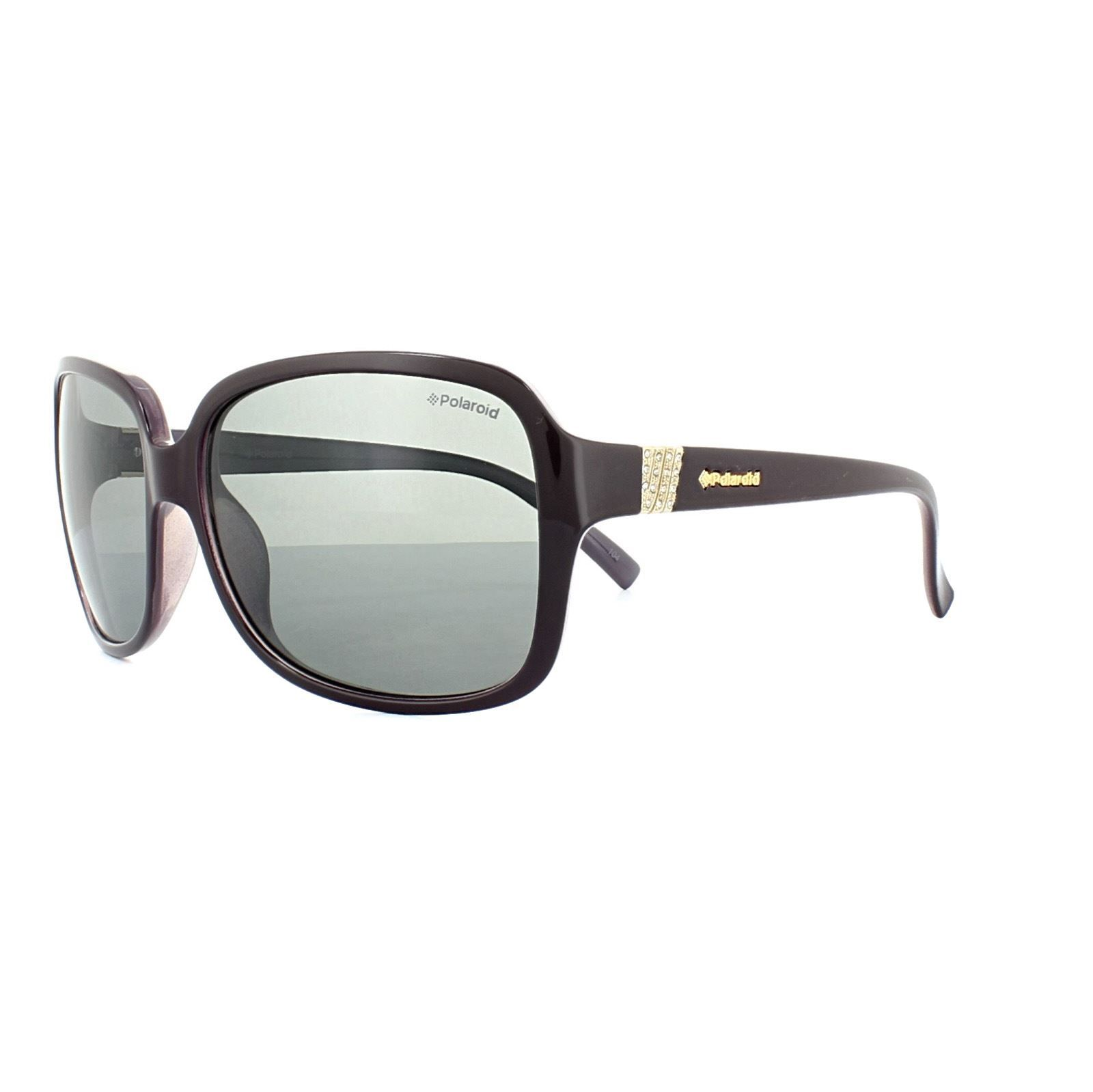 Polaroid Sunglasses 5006/S PUT AH Plum Lilac Grey Polarized