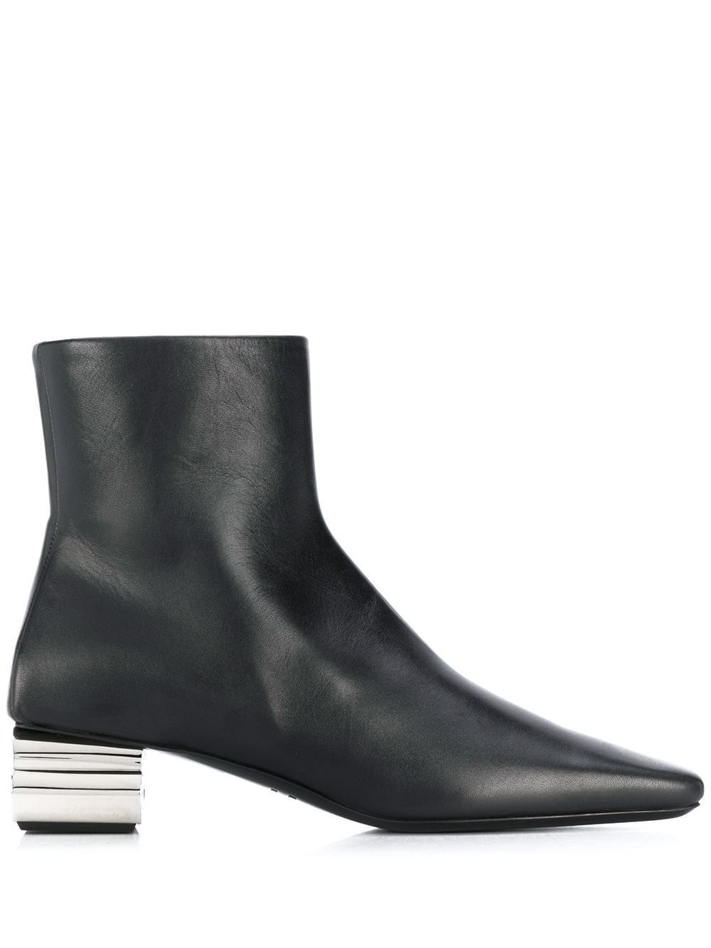 BALENCIAGA WOMEN'S 590984WA8F31081 BLACK LEATHER ANKLE BOOTS