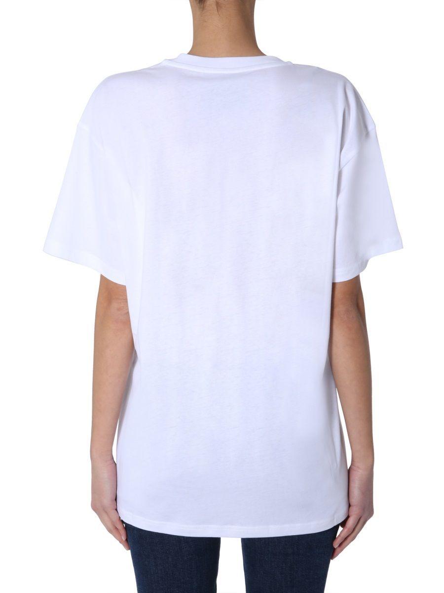 MOSCHINO WOMEN'S 071705401001 WHITE COTTON T-SHIRT