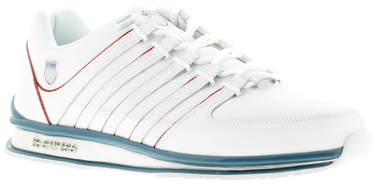 Mens Kwiss Rinzler Sp Lace Up Leather Upper Trainers Eva Midsole And Sock Liner Synthetic Lining Rub
