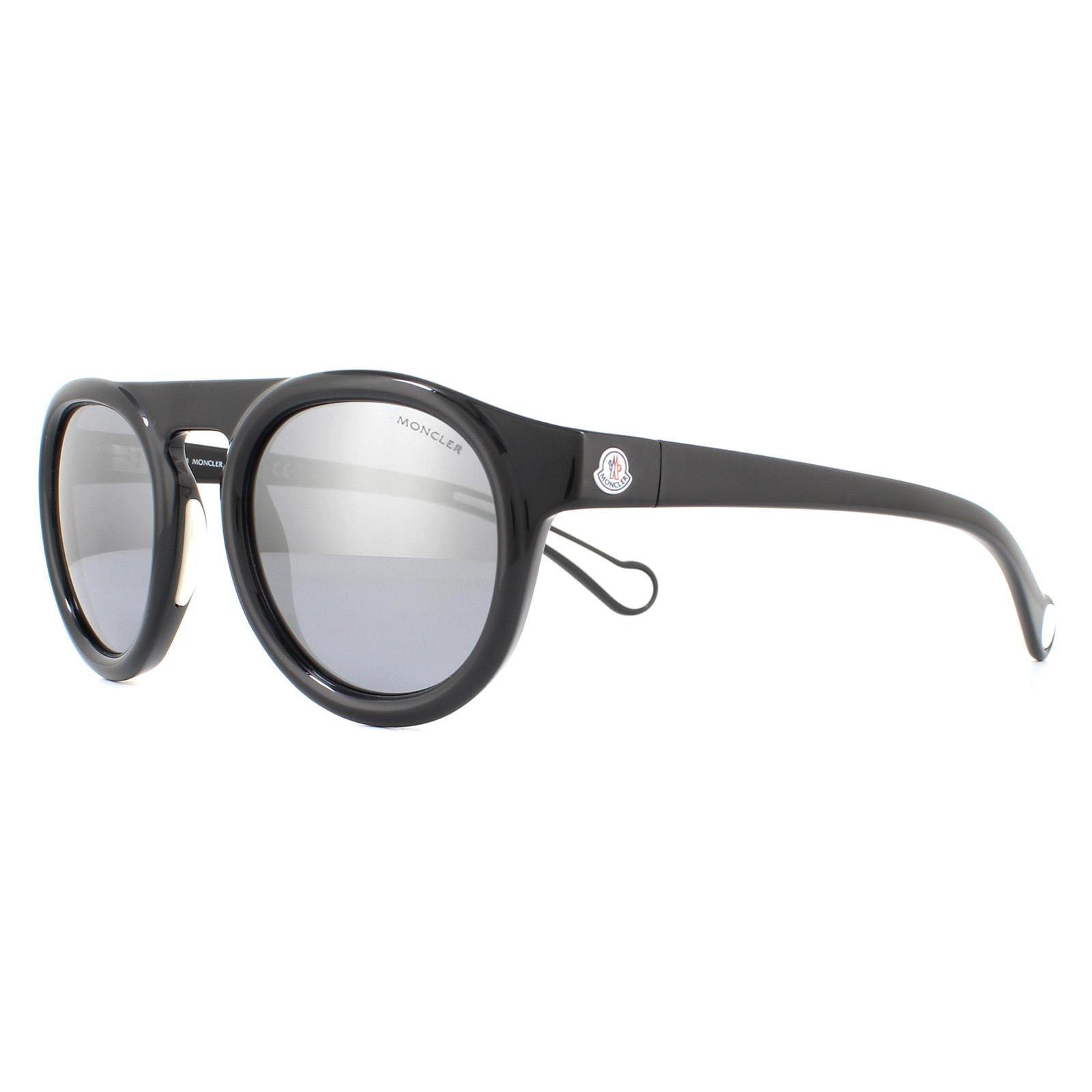 Moncler Sunglasses ML0088 01C Black Smoke Mirror