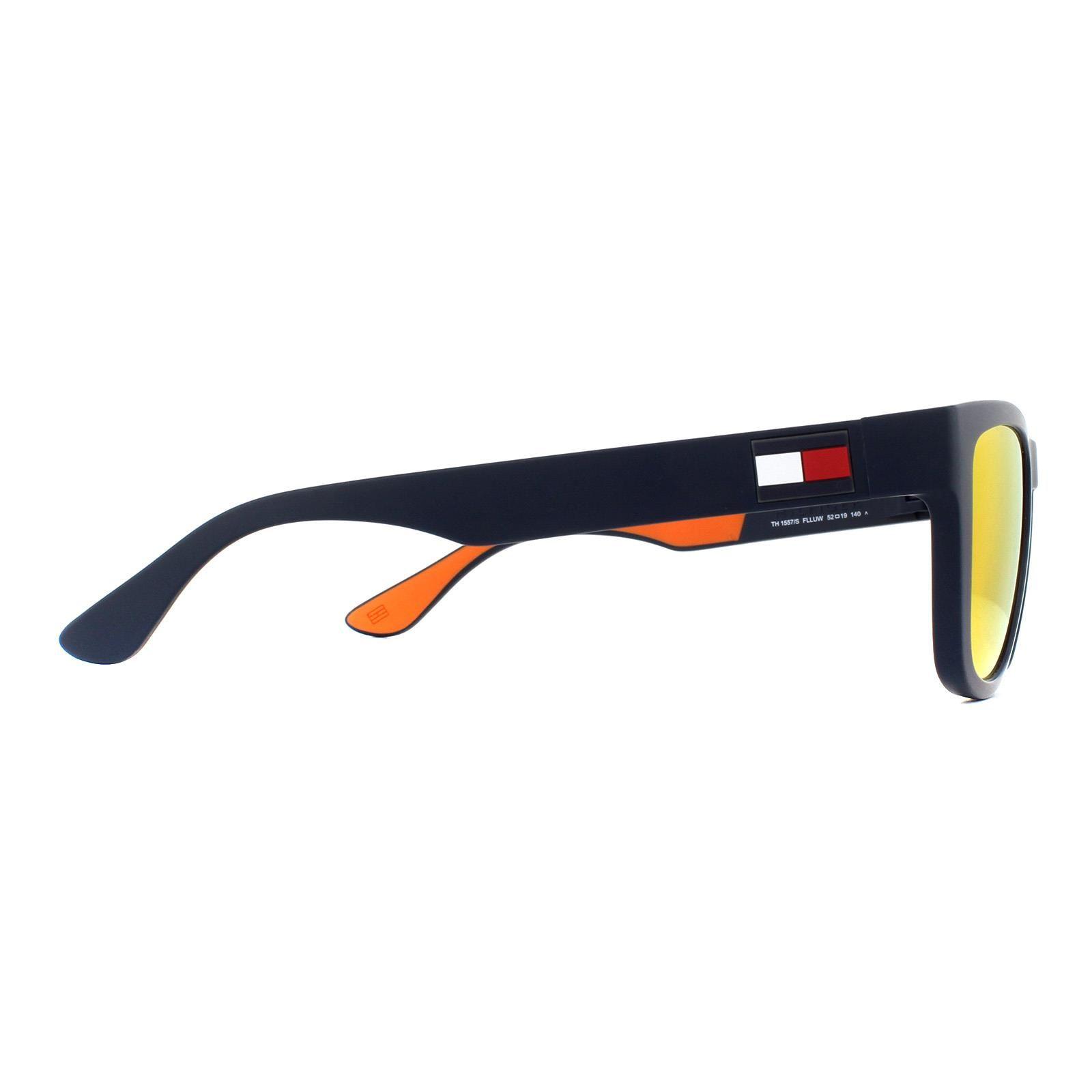Tommy Hilfiger Sunglasses TH 1557/S FLL UW Matte Blue Orange Mirror