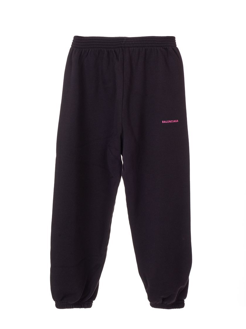 BALENCIAGA GIRLS 558146TEV901055 BLACK COTTON JOGGERS