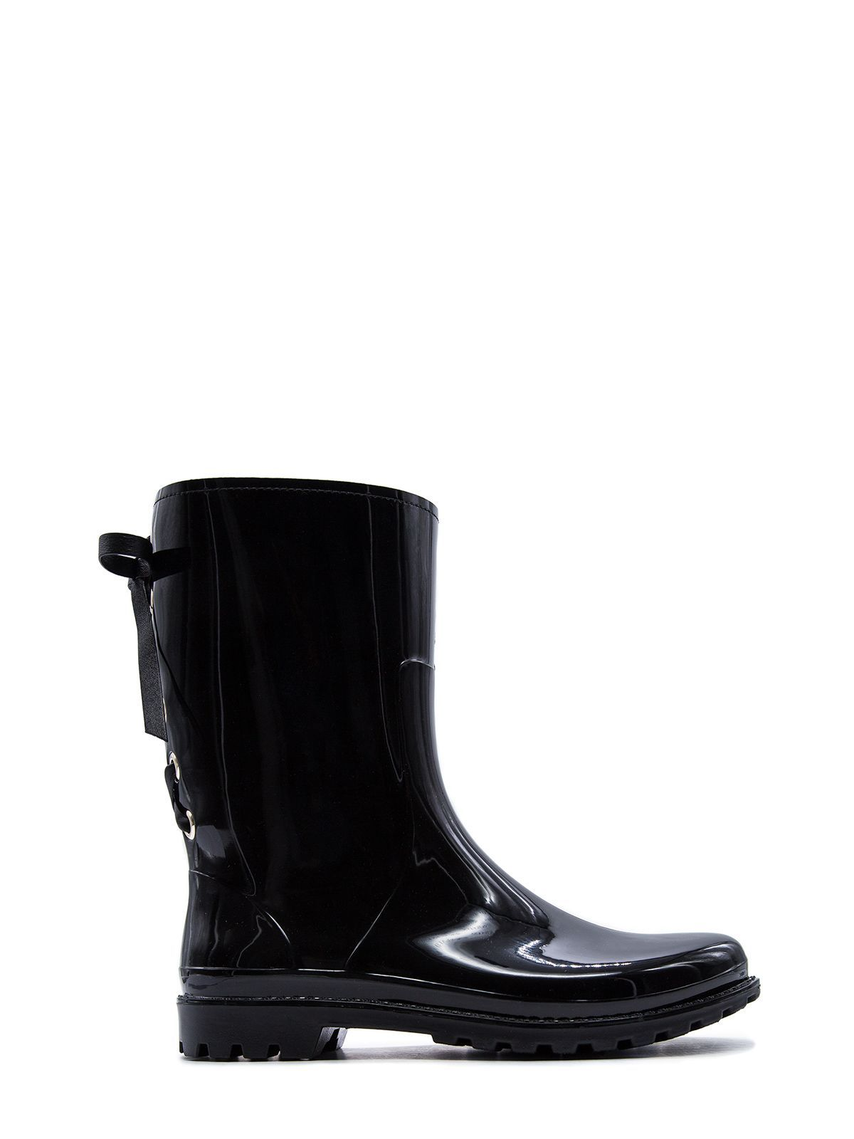 RED VALENTINO WOMEN'S SQ2S0C54YHH0NO BLACK PVC ANKLE BOOTS