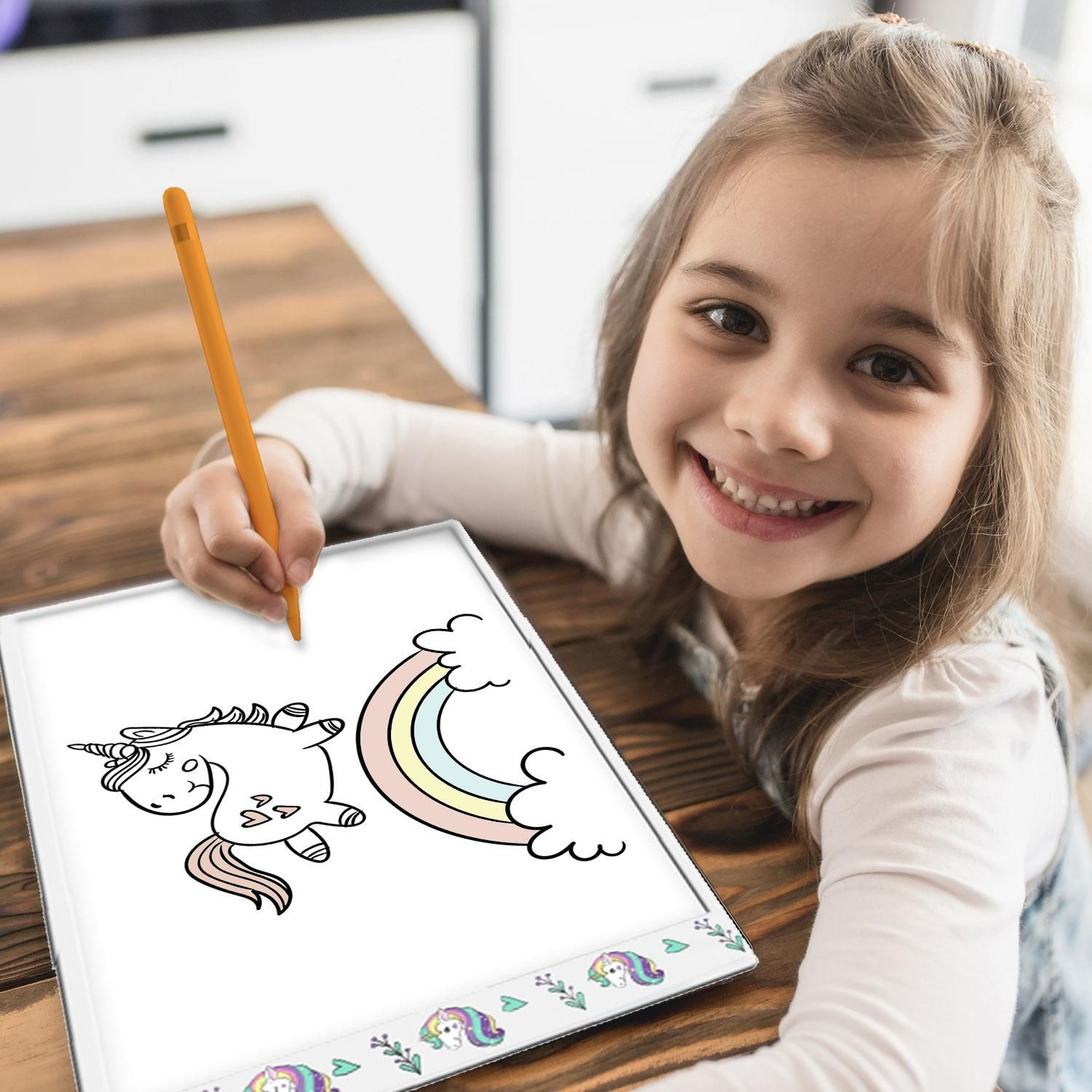 Doodle A4 Ultra-Thin Portable LED Tracing Pad with USB Cable Unicorn