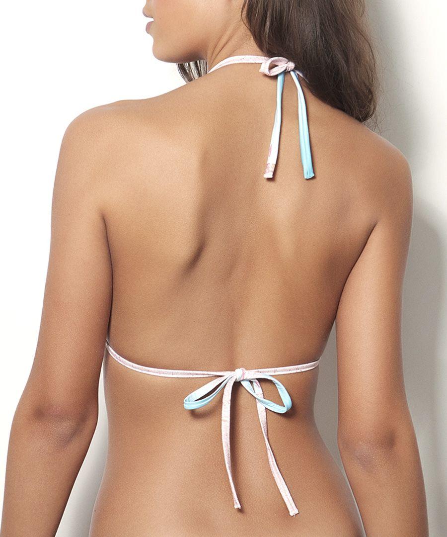 Multi-colour bikini top