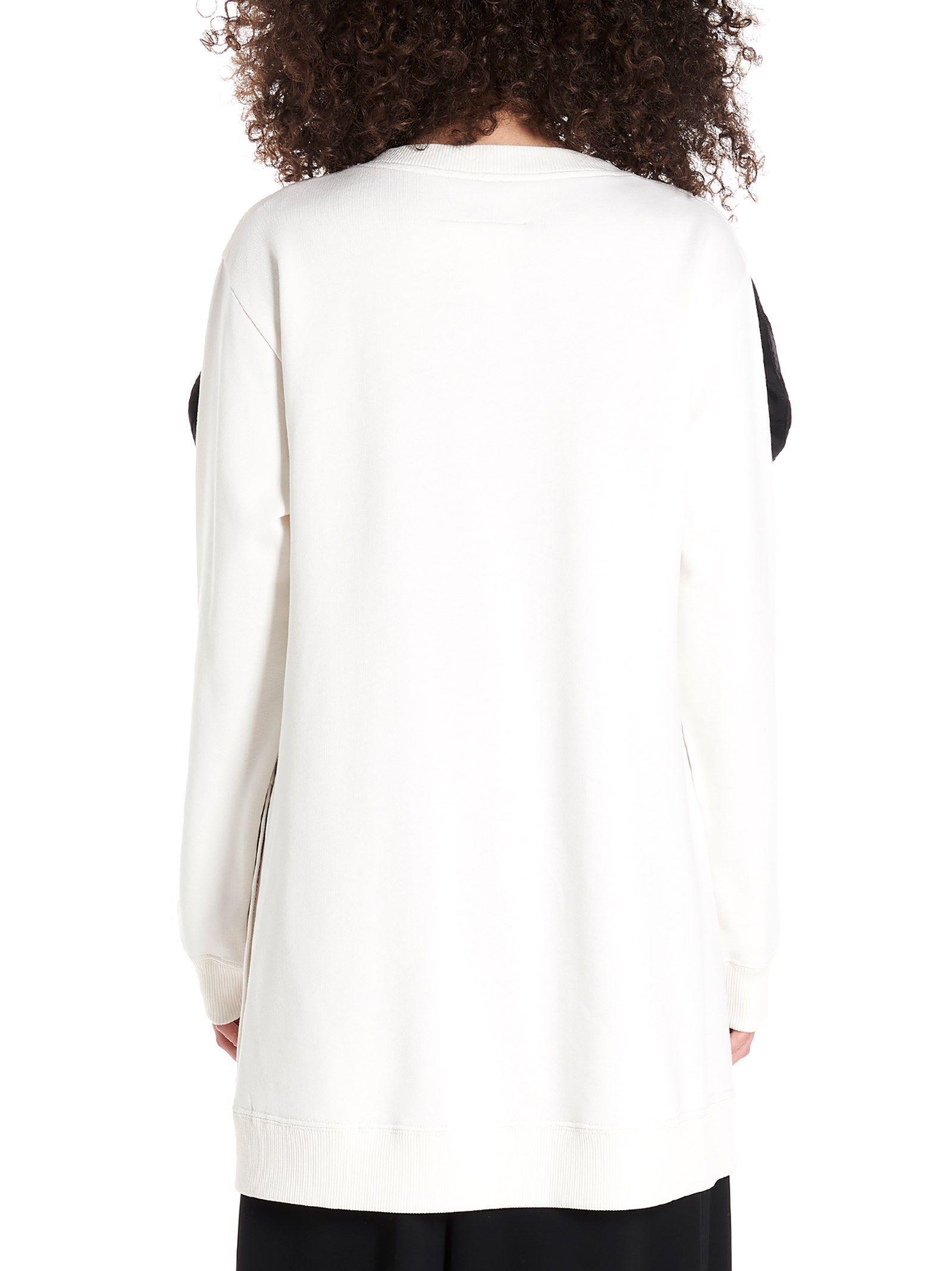 MAISON MARGIELA WOMEN'S S52GU0082S25328101 WHITE COTTON SWEATSHIRT