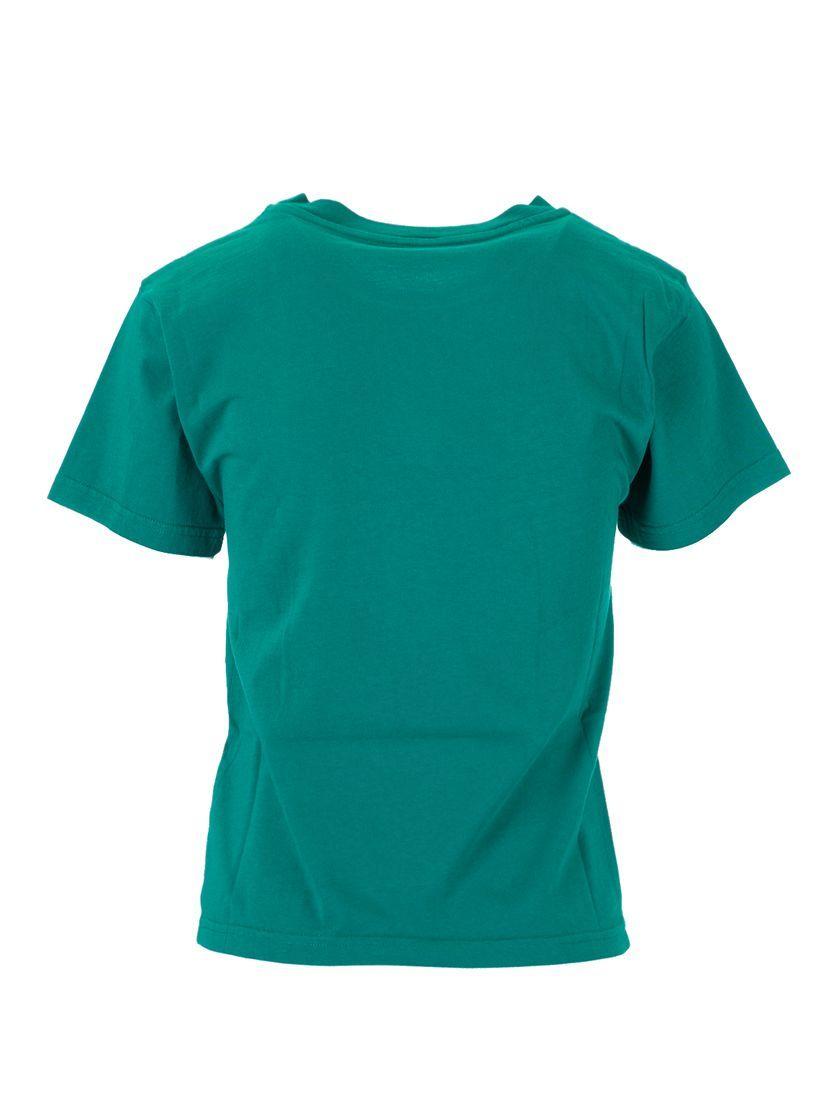 BALENCIAGA GIRLS 556155TGV723640 GREEN COTTON T-SHIRT
