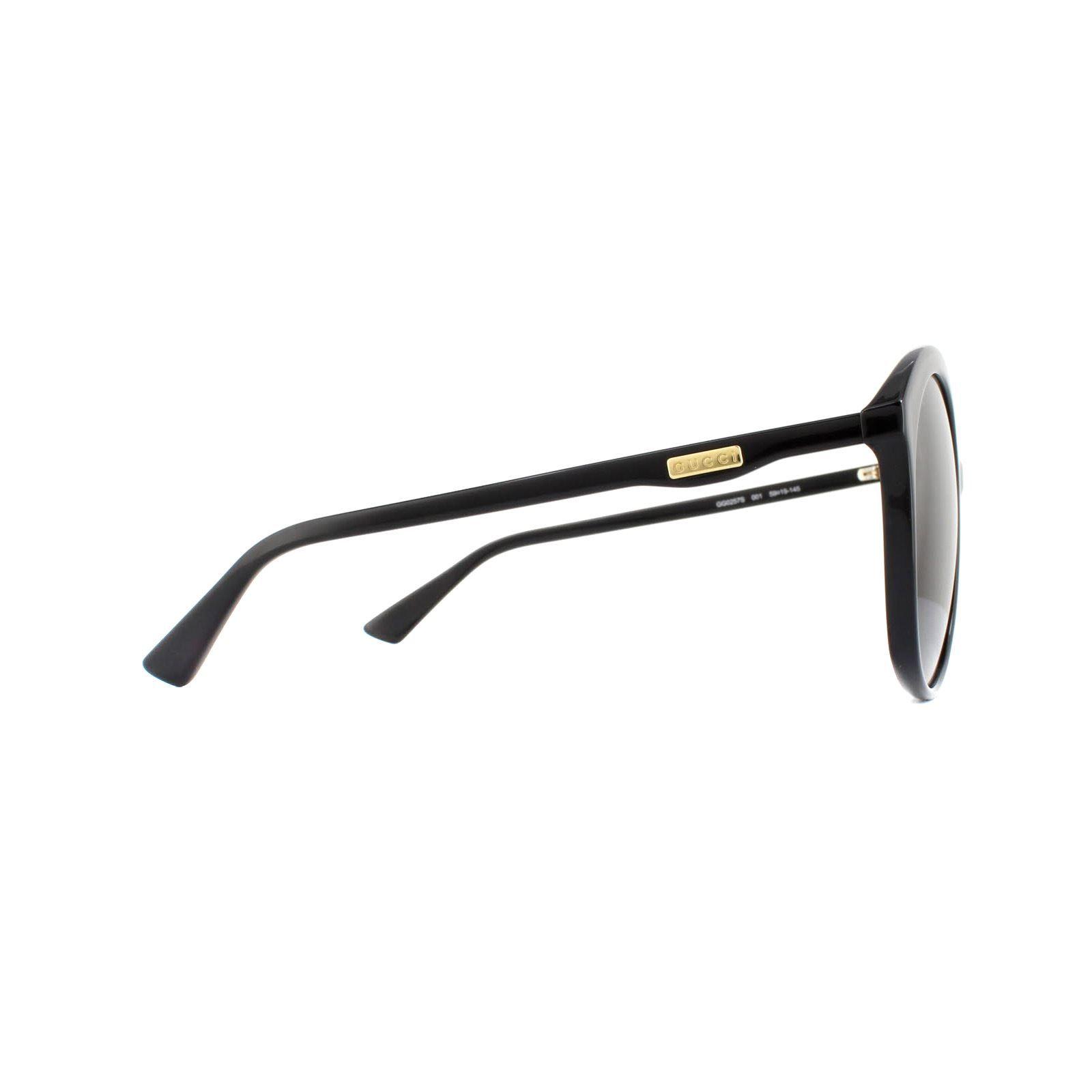 Gucci Sunglasses GG0257S 001 Black Grey