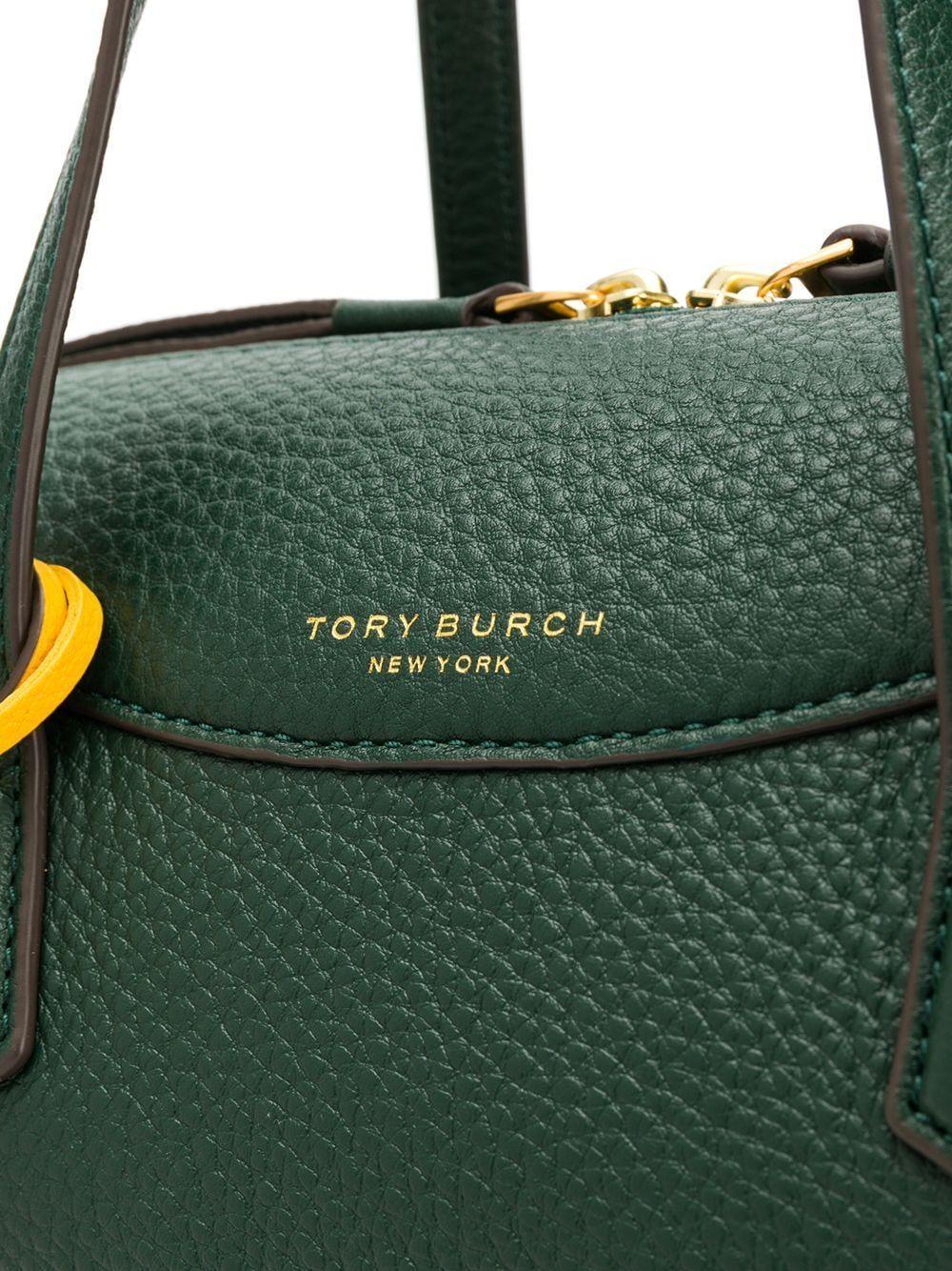 TORY BURCH WOMEN'S 61169304 GREEN LEATHER HANDBAG