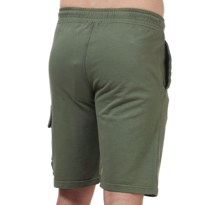 Men's C.P. Company Lens Fleece Shorts Green Sin Green