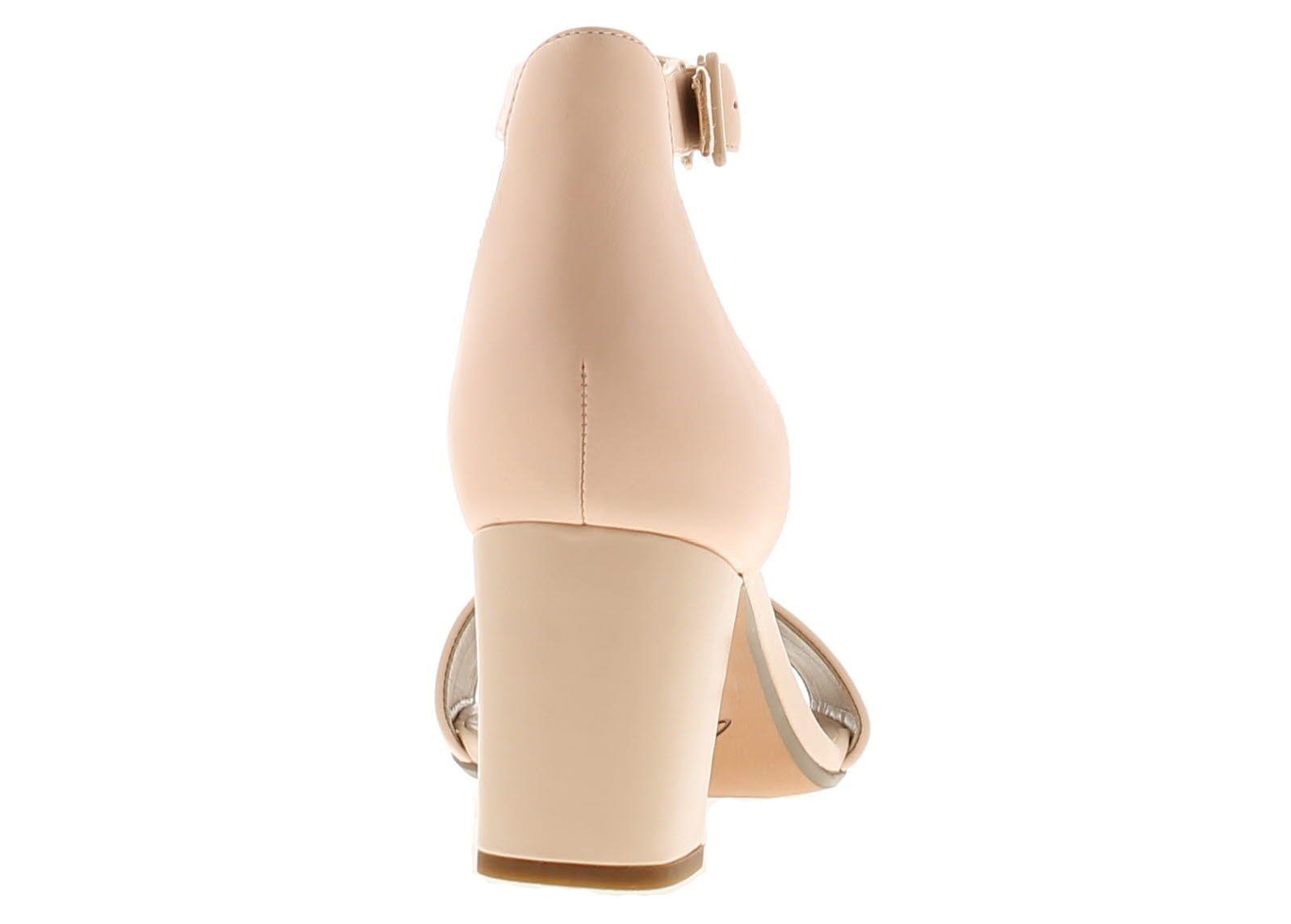 Clarks deva mae leather womens ladies heeled sandals pink
