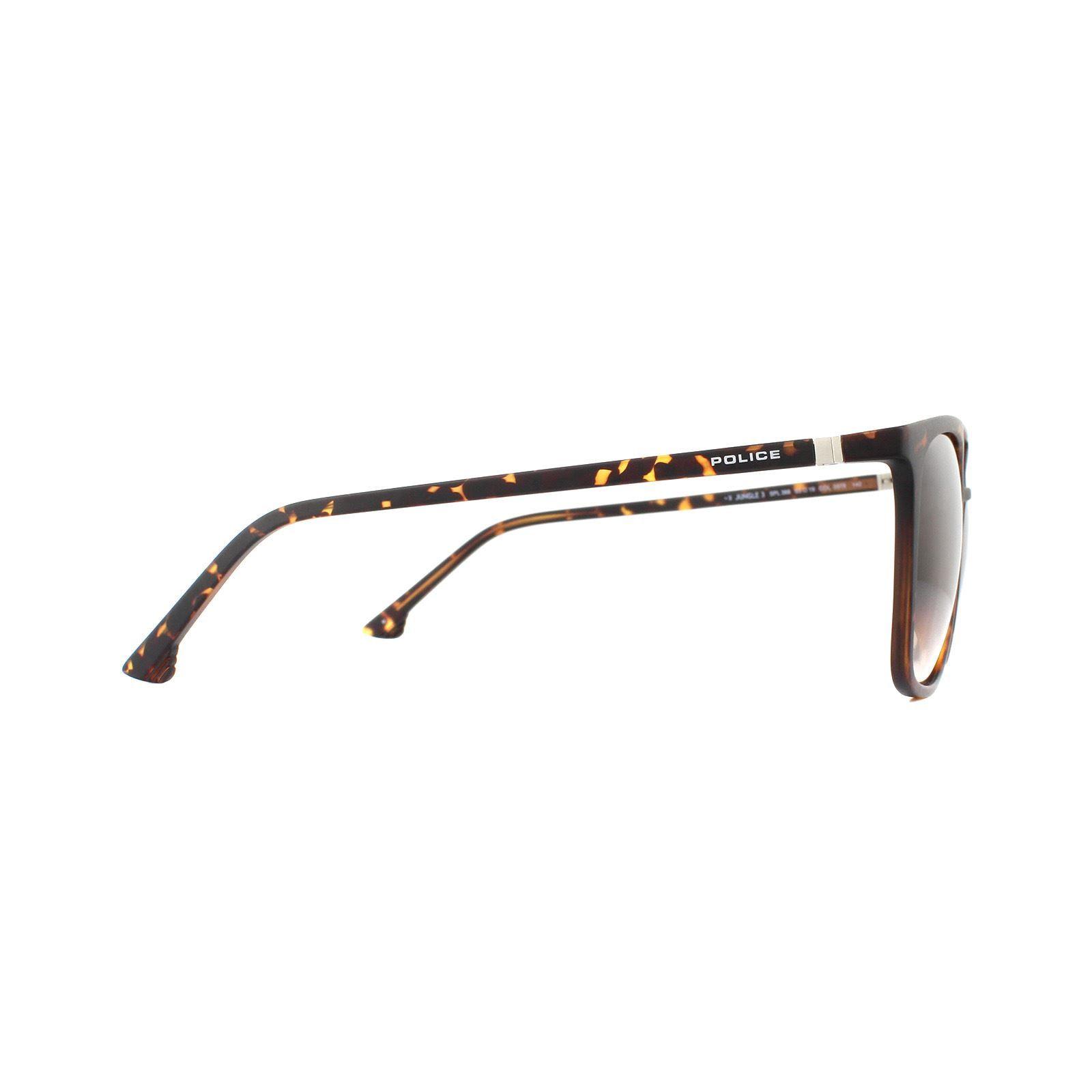 Police Sunglasses Jungle 3 SPL366 0978 Shiny Dark Havana Brown Gradient