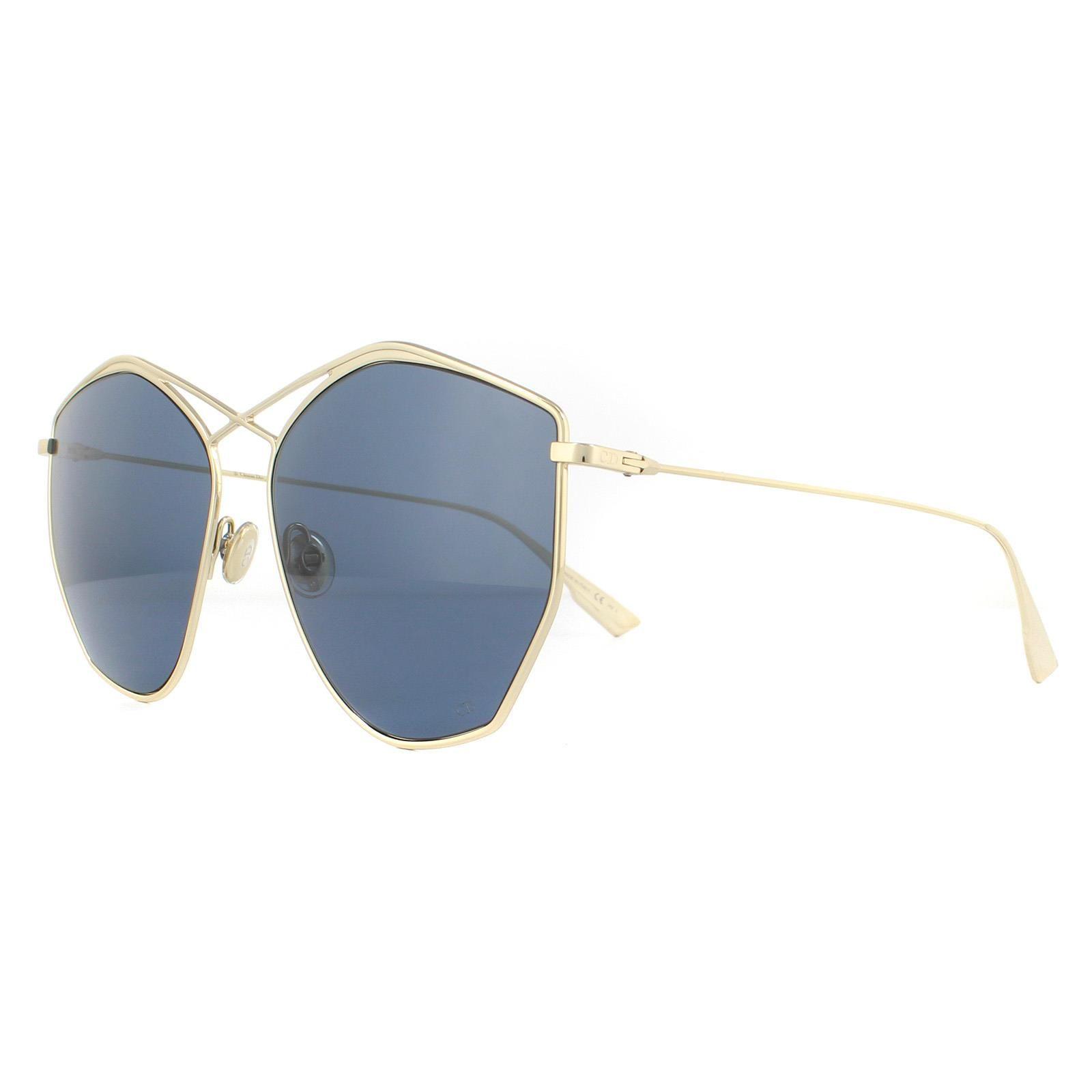 Dior Sunglasses Stellaire 4 J5G DC Gold Silver Mirror