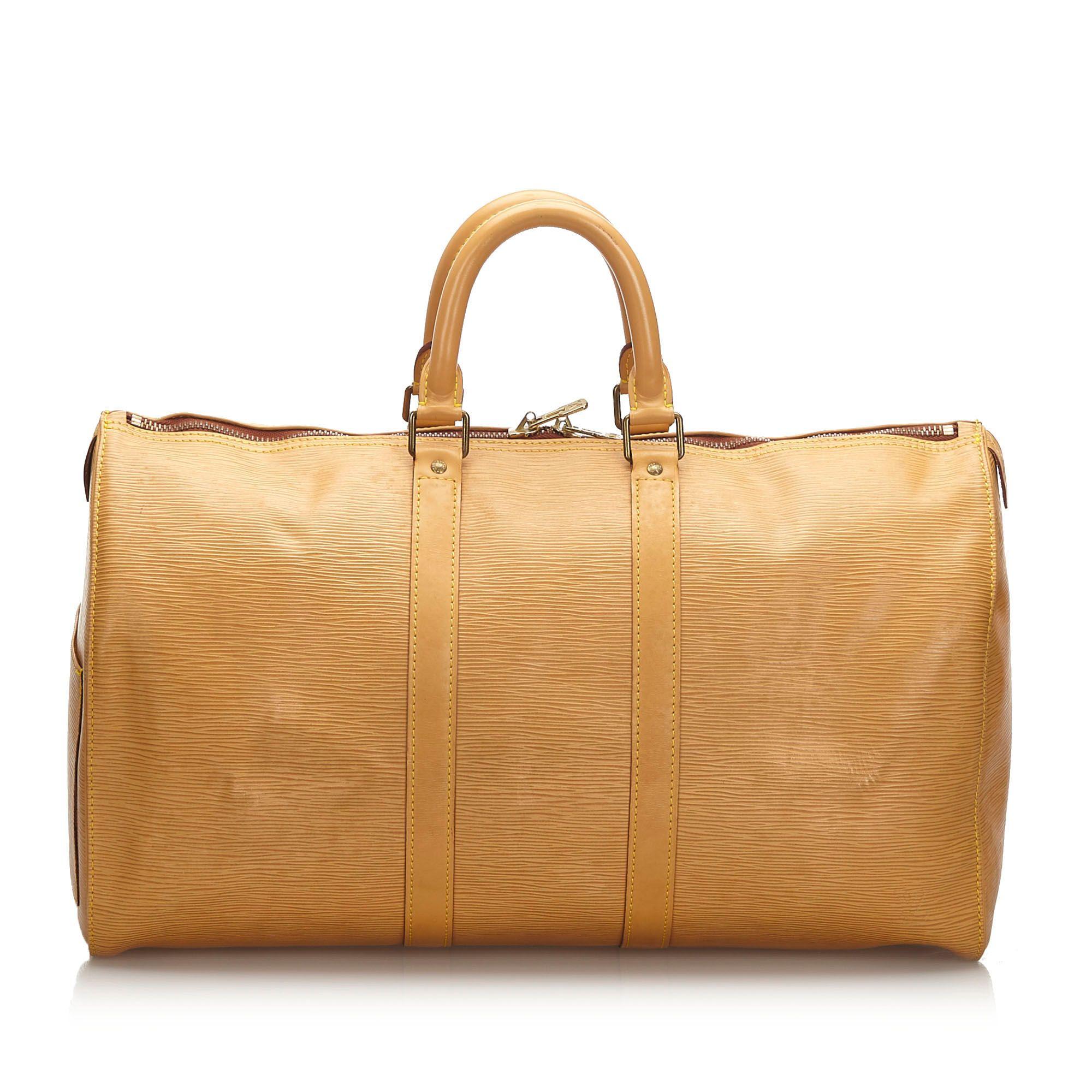 Vintage Louis Vuitton Epi Keepall 45 Brown