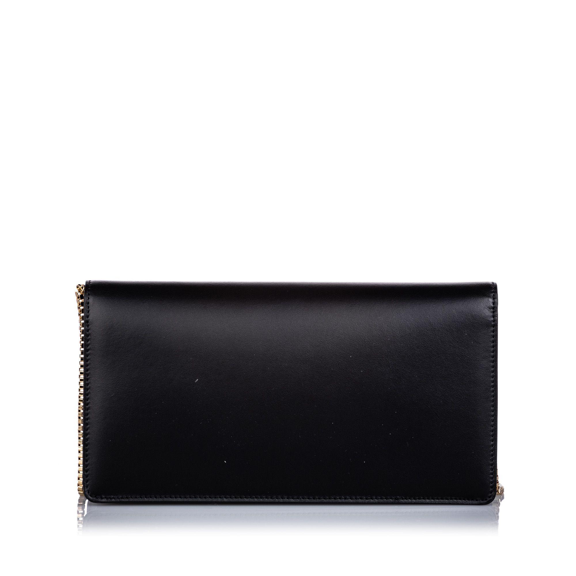 Vintage Ferragamo Thalia Leather Baguette Black