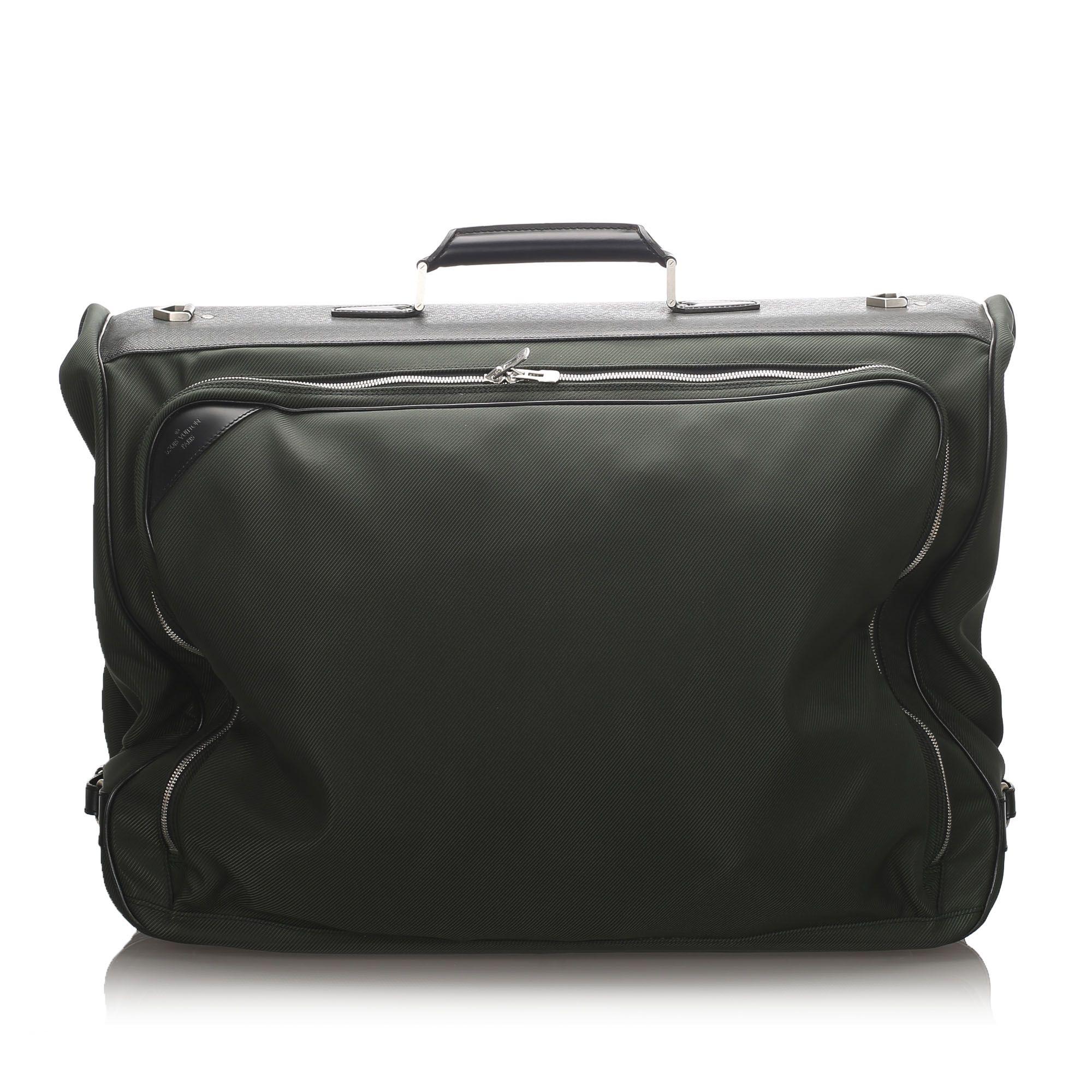 Vintage Louis Vuitton Santore Ardoise Garment Travel Bag Green