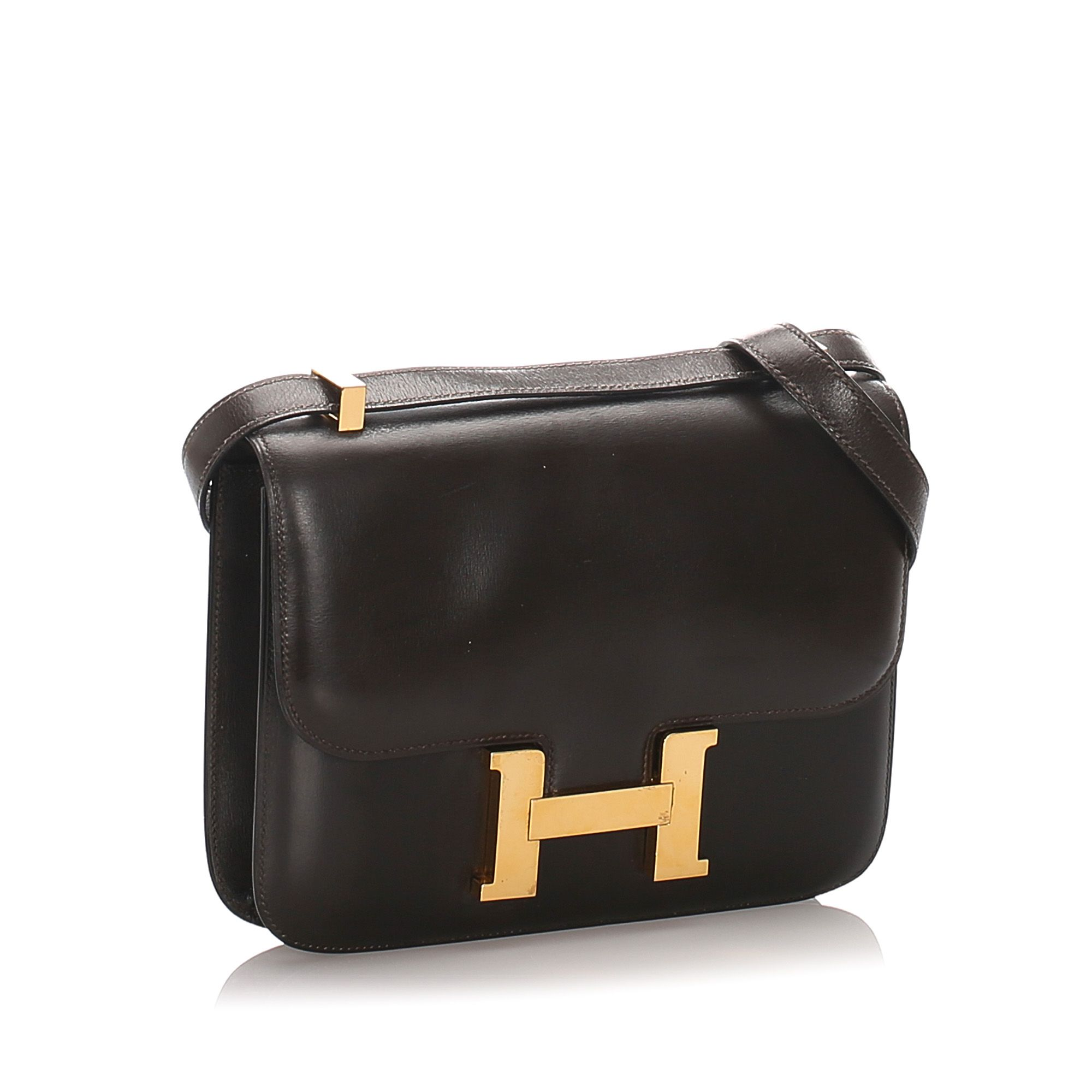 Vintage Hermes Box Calf Constance 23 Brown