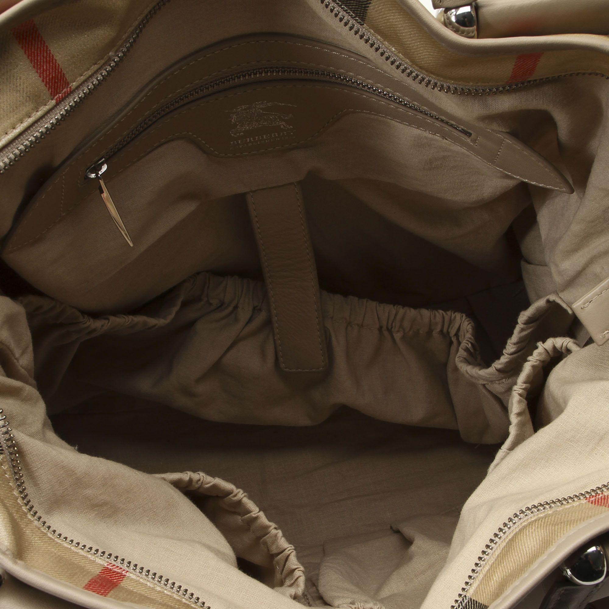 Vintage Burberry House Check Diaper Bag Brown